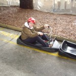 Kenna having a blast on the luge.