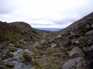 Beginning of the hike up Tongariro Crossing