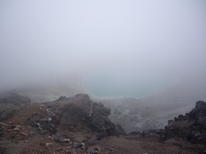 A moment before this was taken was my Aha! moment - I finally saw the lake! Then it was covered in cloud when I snapped the photo.