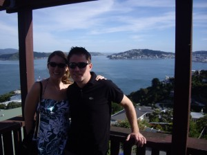Scott and I overlooking Wellington.