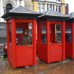 Kenna in the red telephone booth