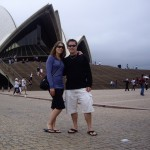 Us in front of the Sydney Opera House