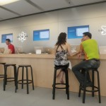 The Genius Bar at the Apple Store...where we spent FAR too much time.