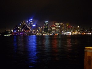 Beautiful view of the Opera House and downtown just after the fireworks finished.