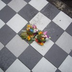 The Hindu offerings that litter the streets outside shops