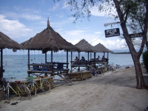 Awesome little restaurant on the north beach of Gili Travagan