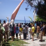 The celebration on Gili Air