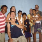 Putu (left) and his family