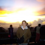 Kenna at the sunrise at Bromo