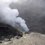 Inside the crater of Ganung Bromo