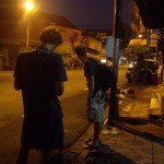 5 a.m. waiting for the bus to Borobudur