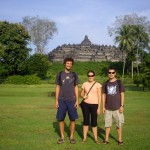 Us and Matt at Borobudur