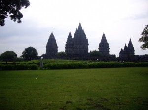 The Hindu temple of Prambanan