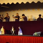 A Chinese puppet show