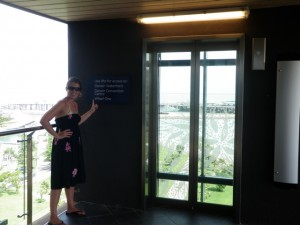 The elevator to get down to the beach lagoon in Darwin