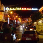 The entrance to Melaka's famous Jonker street - sponsored by Guiness???
