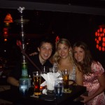 Evan, Leanne and Kenna at the reggae bar with our Hookah