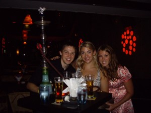 At the reggae bar with our Hookah