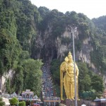 The 100-ft Hindu god at Batu Caves