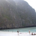 Maya Beach, from the beach