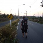 Walking in rural Thailand at sunset. Awesome.
