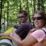 Us on the sea kayak in the mangroves...SMA-WILE!