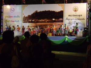 Some traditional thai dancing at the carnival in Ranong