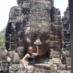 One of the faces of Angkor Thom