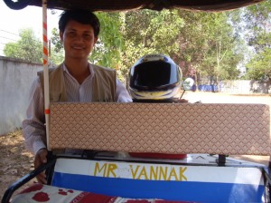 Our chatty tuk-tuk driver, Mr. Vannak