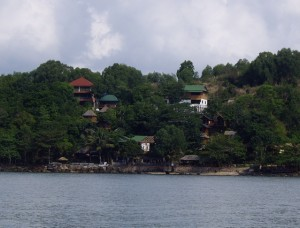 Our beach bungalow viewed from the water