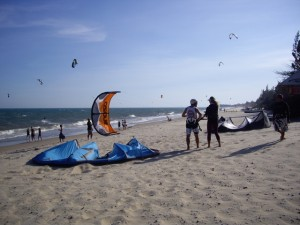 Scott getting ready for some kite surfing lessons