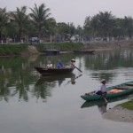 Hoi An's river across from the market