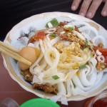 """Quang Mi"", a delicious dish we had a stall beside the river"