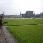 The lawn in front of Ho Chi Minh's mausoleum