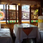 Elegant looking tables aboard our luxury Halong Bay boat