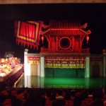 The water puppet show in Hanoi
