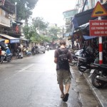 Walking the streets of Hanoi, sans sidewalk