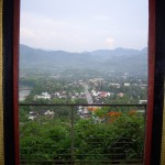 View from the Buddhist temple in Luang Prabang