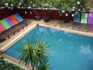 Our pool in Chiang Mai