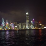 The Hong Kong skyline