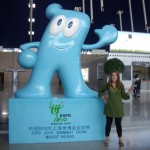 Kenna with the little Expo mascot